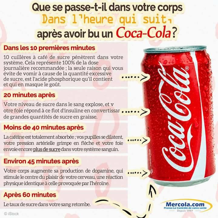 Les effets d'une cannette de soda sur votre corps 1