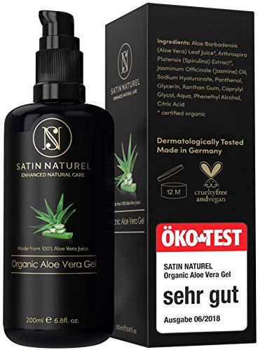 Gel d'Aloe Vera 100 % Bio, Pur et Naturel - Gel Hydratant Naturel Composé de 97% d'Aloe Vera / Pour le Corps / Riche en Vitamines et Minéraux - Fabriqué en Allemagne - Vegan & Cruelty-Free