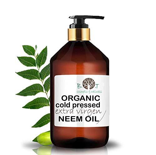 Huile de Neem Native Première Pression à Froid 100% Pure Non Raffinée (500 ml)