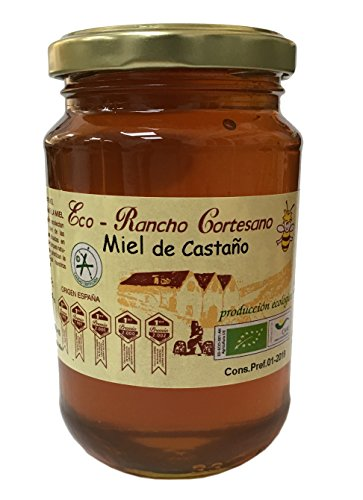 Miel de Ranco Cortesano - Miel cru de Châtaignier 500gr Production Ecologique (Miel cruda de Castaño Ecológica)- Origine Espagnol
