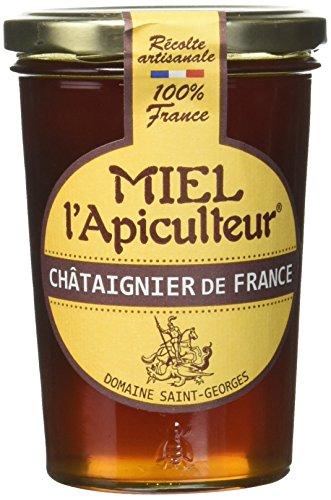 MIEL L'Apiculteur Miel de Châtaignier Pot Verre 500 g - Lot de 3
