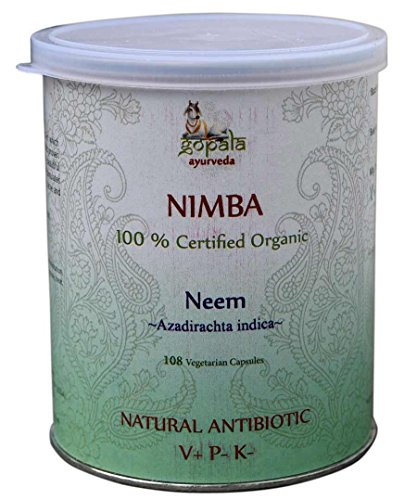 NIMBA -Neem- (Azadirachta indica) BIO 108 gélules (500mg) - Plante Ayurvédique Traditionnelle antibiotique naturel