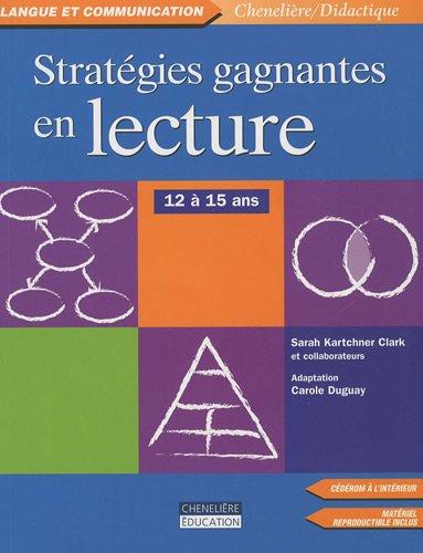 Stratégies Gagnantes en lecture : 12 à 15 ans (1Cédérom)