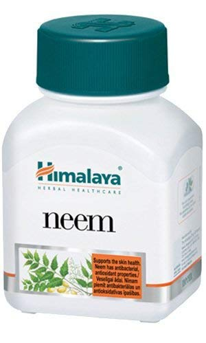 Systemic Purifier and Blood Detox Supplement - Supports Natural Cleansing of the Body - Clears Toxins and Promotes Healthy Skin- Neem Capsules, 60 Count By Himalaya (Since 1930) (1-Pack)